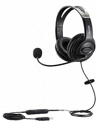 USB Headset With Noise Cancelling Microphone For Call Center Skype Chat Computer • 46.24£