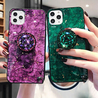 Diamond Marble Phone Case For Iphone 12,12 Mini,12 Pro Max Cover + Stand Holder • 5.49£