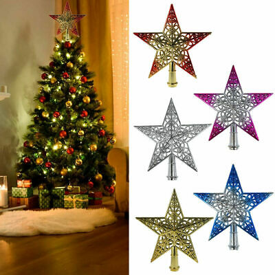 Christmas Tree Star Topper Ornament Star Christmas Party Xmas Decoration Decor • 4.99£