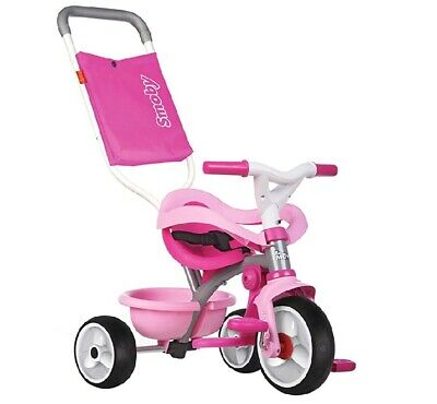 Smoby Pink Comfort Trike With Parent Handle | Stylish, Multifunctional Design • 60£