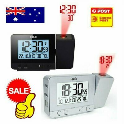 AU27.60 • Buy Digital LED Projection Alarm Clock Time Temperature Projector LCD Display HG
