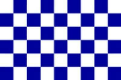 Navy Blue And White Large Chequered Flag 5ft X 3ft Chelsea Everton Etc Sports Fl • 5.95£