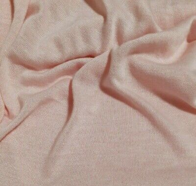 Fabric Swearter Knit Jersey Light Pink Thin  - Sold By The Metre • 4.72£