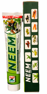 LOT OF 2 PCS Neem Toothpaste  Herbal Active Formula 100% Fluoride Free  • 10.73£
