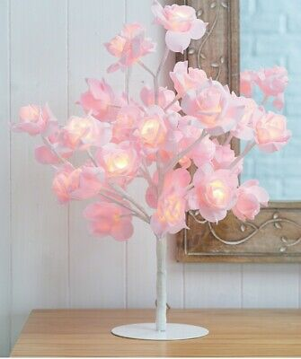 LED Rose Tree Bouquet Table Lamp Bedside Night Light Home DecorDescription • 19.99£