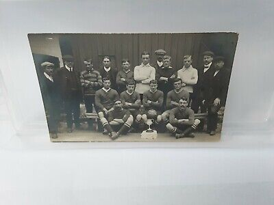 Antique Photograph Postcard Social History 1910 Football Team  • 1.50£