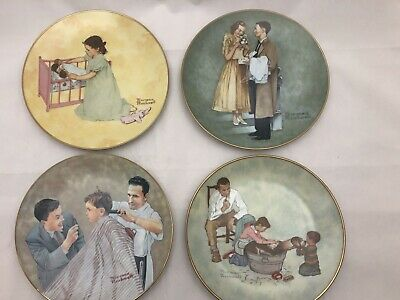 $ CDN132.90 • Buy Norman Rockwell Plates American Family Series I Fairmont Porcelain Lot Of Four