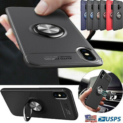 AU7.48 • Buy Magnetic Case Cover With Ring Holder Buckle For IPhone XR XS Max X 8 Plus 7 6s