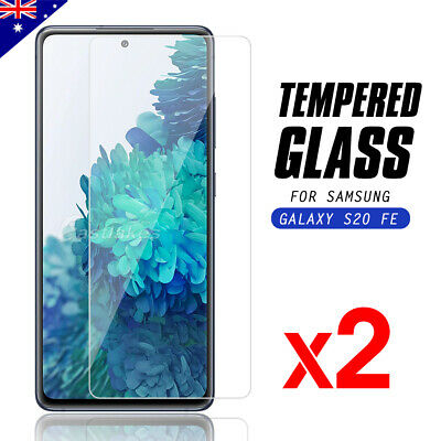 AU7.95 • Buy 2x Tempered Glass Screen Protector Film Guard For Samsung Galaxy S20 FE 5G