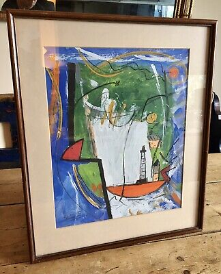 Beautiful St Ives School Painting Framed And Signed • 65£