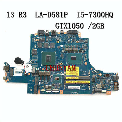 $ CDN606.55 • Buy NEW Dell Alienware 13 R3 Game Laptop Motherboard W/ I5-7300HQ GTX1050 2GB THFCD