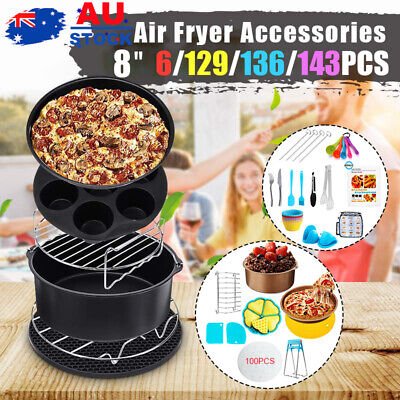 AU28 • Buy 8  Air Fryer Accessories Rack Cake Pizza Oven Barbecue Frying Pan Tray 6-143PC