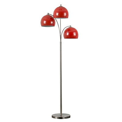 Modern Designer Style 3 Way Brushed Chrome Floor Lamp - Complete With Mini Arco • 67.33£