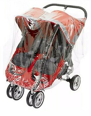 Rain Cover To Fit Baby Jogger City Mini Double With Zip Made In Uk Quality Pvc • 18.20£