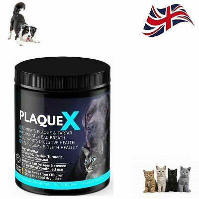 Plaque X For Dogs Cats Tartar Remover Breath Freshener Turmeric Formulation 180g • 11.79£