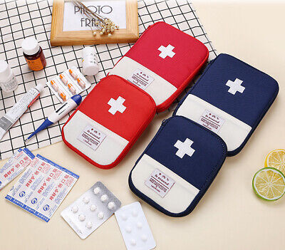 £3.95 • Buy Mini Medical Bag Outdoor First Aid Kit Case Emergency Travel Pill Box Pouch