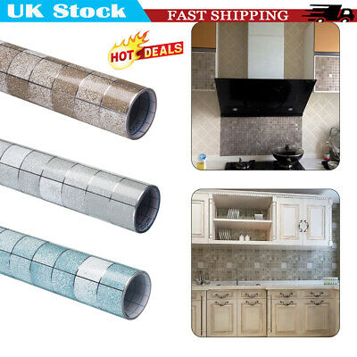 2M Kitchen Waterproof Anti-Oil Stick On Wall Tile Decal Sticker Self-adhesive UK • 5.69£