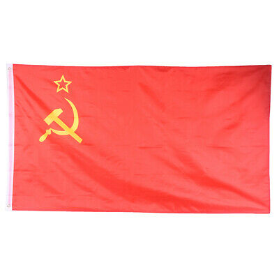 3*5 Ft Red CCCP Union Of Soviet Socialist Republics USSR Flag Banner Home DeCC • 4.27£