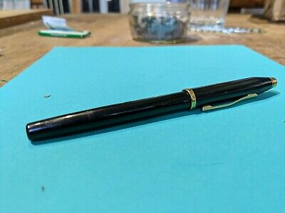 Cross Century Fountain Pen Black And Gold, Supplied With Converter. • 7.50£