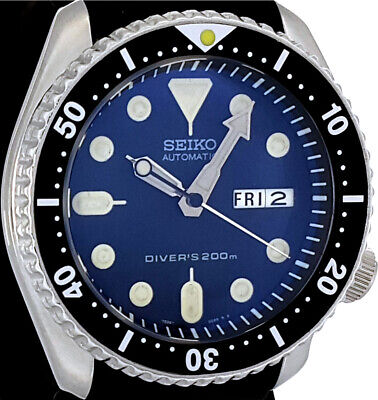 $ CDN151.79 • Buy Vintage Diver Seiko SKX007 Genuine 7S26 Movement, Dial + D-Dome Sapphire Crystal