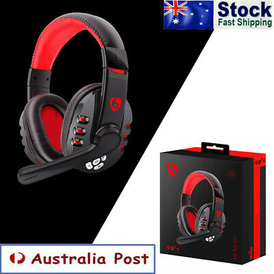 AU32.99 • Buy Wireless Bluetooth Gaming Headset Headphones Surround Stereo W/Mic For PC Laptop