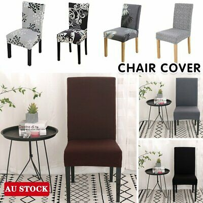 AU20.90 • Buy 1/4/6/8PCS Dining Chair Seat Covers Slip Stretch Wedding Banquet Party Removable