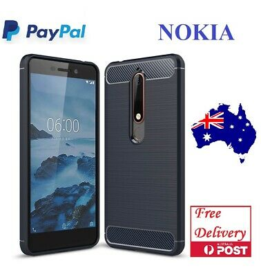 AU6.50 • Buy Carbon Fiber Shockproof Mobile Phone Case Cover For Nokia 6 2018 6.1 7 Plus