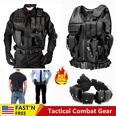 $37.82 • Buy Military Vest Adjustable Tactical Molle Assault SWAT Utility Gear Plate Carrier