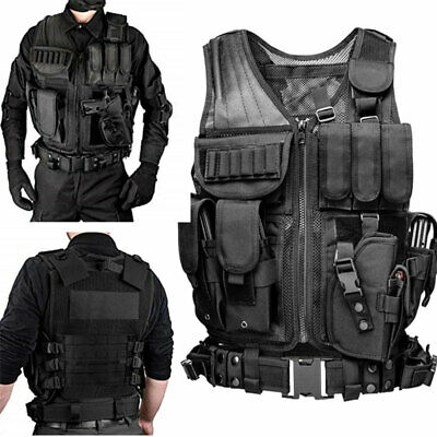 $37.82 • Buy Tactical Military Vest Molle Police Security Assault Combat SWAT Utility Gear