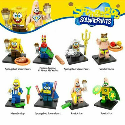 8Pcs SpongeBob SquarePants Minifigure Movie Child Collection Bday Gift Toy • 15.70£