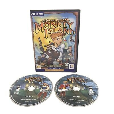 Escape From Monkey Island PC Game With Two Discs • 5.29£