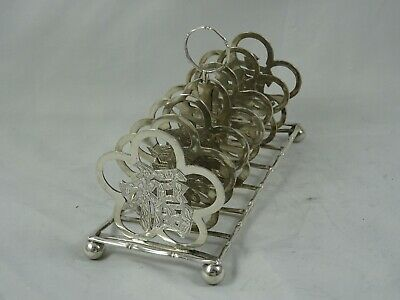 RARE, CHINESE EXPORT Solid Silver TOAST RACK, C1900, 164gm • 1.04£
