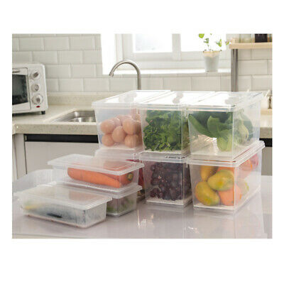 AU11.46 • Buy 4.5LStackable Fridge Storage Container With Removable Drain Tray For Fruits Meat