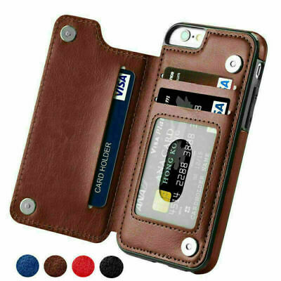 $ CDN10.36 • Buy Leather Wallet Card Holder Back Case Cover For IPhone 11 Pro 7 8 Samsung S9 S10+