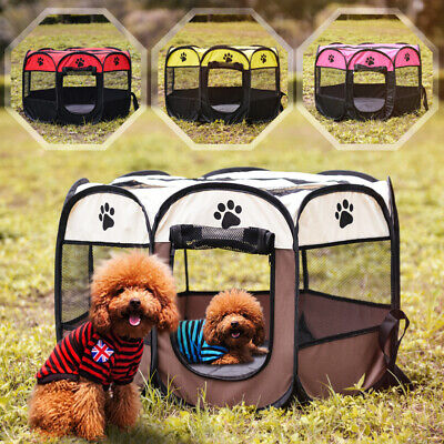£15.99 • Buy Small Portable Pet Dog Cat Playpen Tent Oxford Fabric Fence Kennel Cage Crate UK