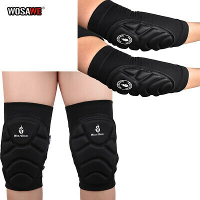 Knee & Elbow Pads Set MTB Bike Cycling Brace Protector Joint Support Skateboard • 6.53£