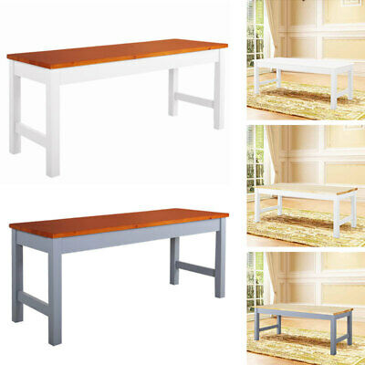 Wooden 2/3 Seater Solid Pine Long Bench Seat Shabby Kitchen Garden Dining Room • 38.95£