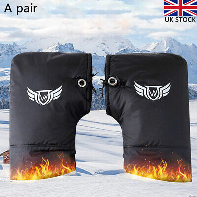 Motorcycle Muffs Cover Waterproof Motorbike Scooter Gloves Warm Handlebar Mitts • 14.49£