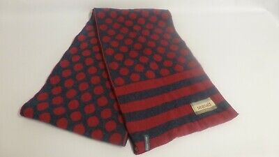 Seasalt Ladies Wool Scarf Red And Blue Spots And Stripes Reversible • 5.99£