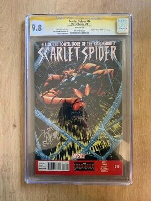 Scarlet Spider Cgc 9.8 Comic Book Signed By Ryan Stegman, Marvel Comics • 28£