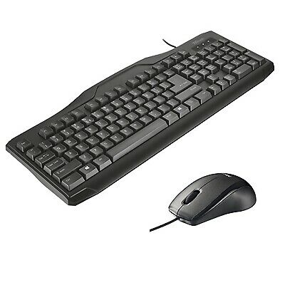 NEW! Trust Classicline Wired Keyboard And Mouse Bundle • 15.45£