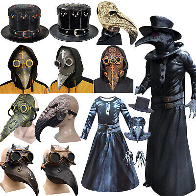 Steampunk Plague Doctor Mask Bird Mouth Long Nose Beak Costume Halloween Outfits • 12.63£