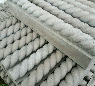 Garden Feature Double Rope Top Path Edge Charcoal Concrete  Border More Availabe • 4£