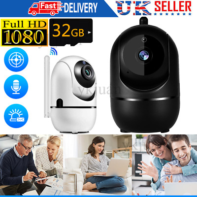 1080P WiFi IP Camera Home Security Baby/Pet Monitor 360° HD CCTV Night Vision • 19.95£