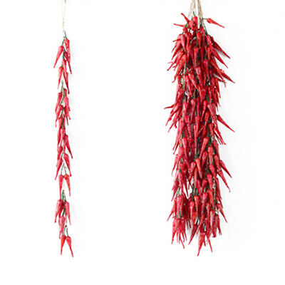 10 Strings Of Artificial Lifelike Chili Plastic Peppers Props Restaurant Decor • 14.52£