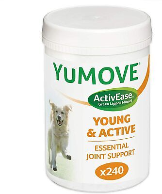 Lintbells YuMOVE Young And Active Dog Hip & Joint Supplement For Dogs Age 2 - 6 • 16.87£