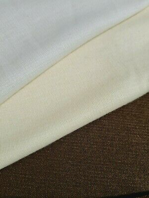 Creme Ecru Brown Colours Knit Jersey (thick Ponte) Fabric - Sold By The Metre • 4.72£