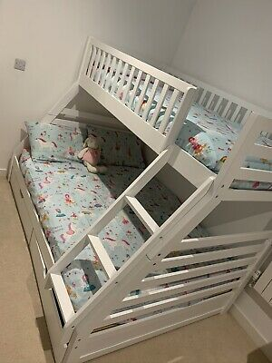 Triple Bunk Bed Frame And Draws • 200£