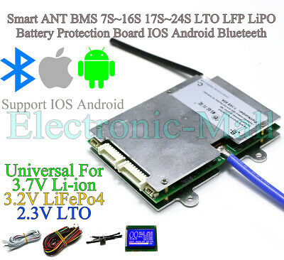 AU66.80 • Buy Smart ANT BMS 7S~16S 17S~24S LTO LFP Lipo Battery Protection Board IOS Android