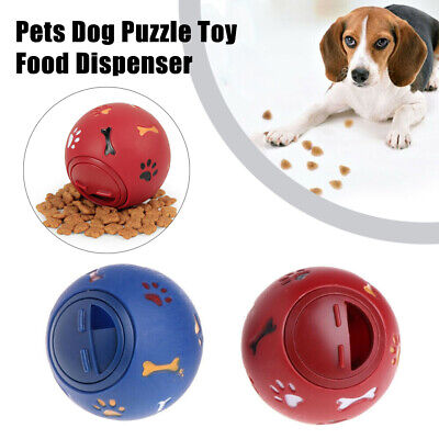 Pet Puzzle Toy Food Dispenser Tough-Treat Ball Dog Interactive Puppy Play Toys • 4.95£
